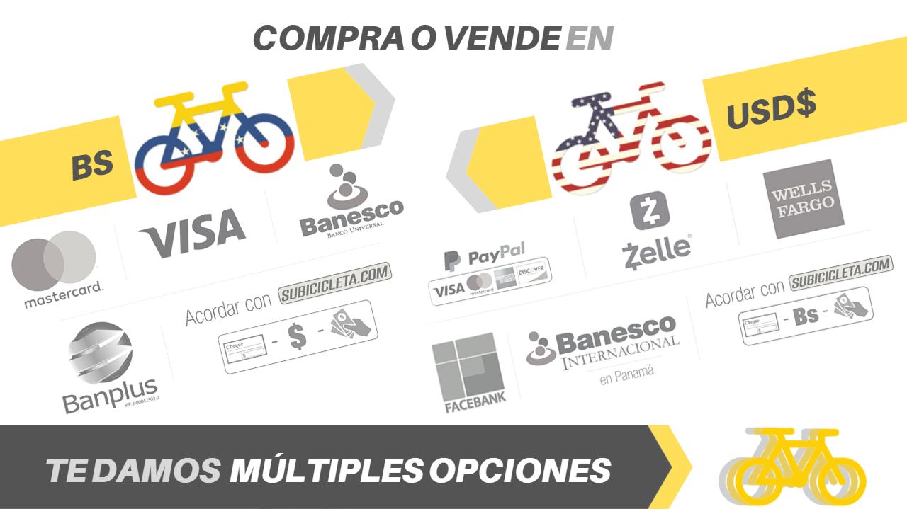 Plataforma de pago y múltiples medios en subicicleta.com